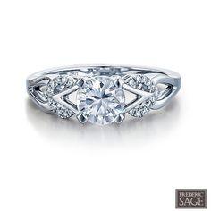 Frederic Sage Bridal Ring Style # RM166 #SageBride #fredericsage