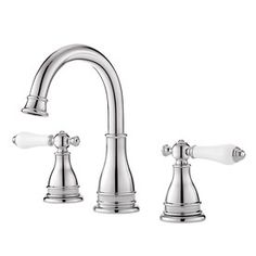 Pfister Sonterra Polished Chrome 2-Handle Widespread Watersense Labeled Bathroom Sink Faucet (Drain Included)