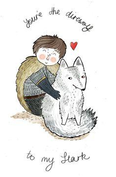 AHHHH, Direwolves Game Of Thrones Valentine Cards!
