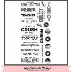 My Favorite Things Clear Stamp - LLD Soda Pop