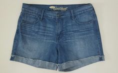 Old Navy the sweetheart women cuffed mid rise denim blue jeans shorts size 10 A2 | Clothing, Shoes & Accessories, Women's Clothing, Shorts | eBay!