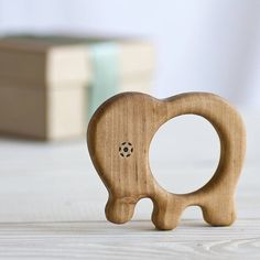 organic baby elephant teether by wooden toy gallery | notonthehighstreet.com