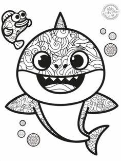 Baby Shark para colorir em 2020   Animais para colorir ...