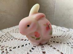 Orange Poppy, Glass Figurines, Fenton Glass, Pretty Eyes, Burmese, Vintage Pottery, Vintage Rhinestone, Bunny Rabbit, Pink Roses