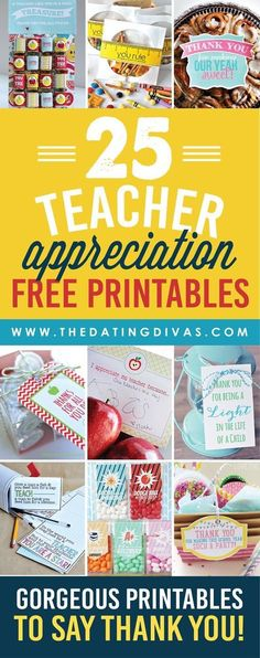 We have come up with the ULTIMATE list of thank you gifts and ideas for teacher appreciation! Free printables, DIY gift ideas, door decorations, and SO much more!