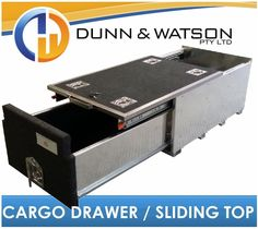 950mm Long Cargo Drawer / Fridge Slide Top (500mm W x 325mm H) 4wd, 4x4, System