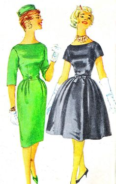 1960s Dress Pattern Simplicity 3592 Day or Evening by paneenjerez, $10.00