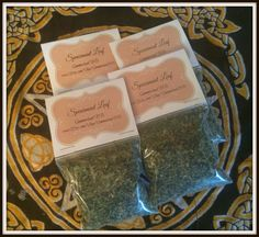 """Spearmint Leaf Magickal Herb ~ Protection Herb ~ Prosperity Herb ~ Incense ~ Spells ~ Wicca ~ Witch ~ Pagan ~ 3"""" x 3"""" Bag by SummerlandBB on Etsy"""