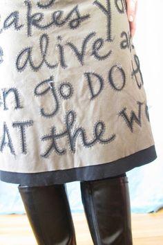 FashionRefashion — wearable poetry a la Alabama Chanin techniques…