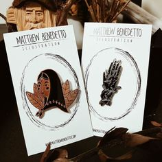 """#Repost @mattbenedetto  Just a friendly reminder that the new """"Moon Maiden"""" pin as well as the """"Growth"""" pin are up for purchase on my Etsy - link in bio.  http://ift.tt/2kiPkfD  #art #illustration #pin #pingame #lapelpins #Etsy #supportsmallbusiness #hand #lady #moon #vine #instaart    (Posted by https://bbllowwnn.com/) Tap the photo for purchase info.  Follow @bbllowwnn on Instagram for great pins patches and more!"""