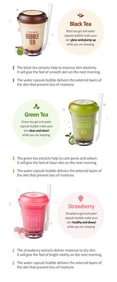 8 Charts That Will Help You Become a Skin Care Expert - ETUDE HOUSE bubble teas sleeping pack The Effective Pictures We Offer You About diy A quality pict - Avon Products, Etude House Products, Beauty Products, Skin Care Regimen, Skin Care Tips, Asian Skincare, Skin Elasticity, Perfectly Posh, Younger Looking Skin