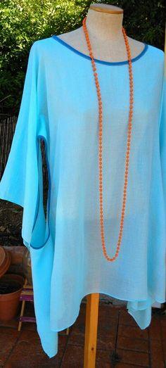Fino algodón para este vestido veraniego. Talla M