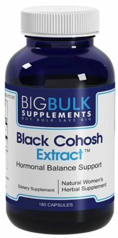 "Black Cohosh Extract Healthy Hormonal Balance Support Big Bulk Suplements Black Cohosh Root 700mg 180 Capsules 1 Bottle by Big Bulk Supplements. $10.00. Herbal researcher Dr. James Duke has this to say about Black Cohosh; ""Black cohosh really should be better known in this country, especially with our aging population and the millions of women who are now facing menopause. Recognized for its mild sedative and anti-inflammatory activity, black cohosh can help with hot ..."