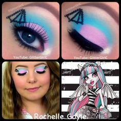 Monster High Rochelle Goyle Makeup. Youtube channel: full.sc/SK3bIA