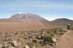 On the way up Mt. Kilimanjaro