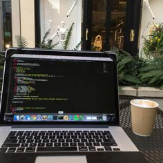 """Coding and coffee - a great combination! """"Some #evening #scala #code #coding #spark #hadoop #robot #bellevue"""""""
