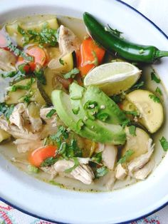 Caldo de Pollo (Slow Cooker Mexican Chicken Soup) (Whole Chicken Soup) Slow Cooker Recipes, Crockpot Recipes, Soup Recipes, Cooking Recipes, Healthy Recipes, Recipies, Caldo Recipe, Pollo Keto, Slow Cooker Mexican Chicken