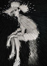 Kate Moss #portrait #illustration by Lola Dupre (original photo by Mario Testino)