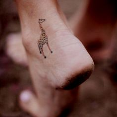 Giraffe tattoo. but turn it the other way so it is facing forward