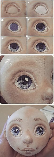 Dolls and toys for children and adults Drawing doll eyes.