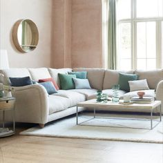 We think of loafing as a family sport. And this large comfy fabric corner sofa will help your whole household beat their personal best. Living Room Lounge, Living Area, Living Rooms, Chaise Sofa, Couch, Sofa Beds, Comfy Sofa, Lounge Decor, Open Plan Living