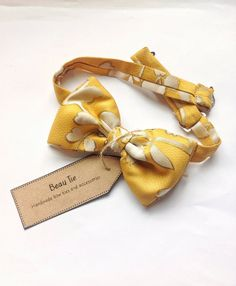 7dd091e1a956 Mens bow tie yellow silk, silk bow tie, yellow bow tie, floral bow tie,, mustard  yellow