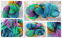 Hand dyed 80/ 20 Extra Fine Merino/ Silk Lace TreLiz by TreLiz, €14.70