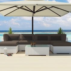 Uduka Outdoor Sectional Patio Furniture White Wicker Sofa Set Diani Dark Grey All Weather Couch:Amazon:Patio, Lawn & Garden
