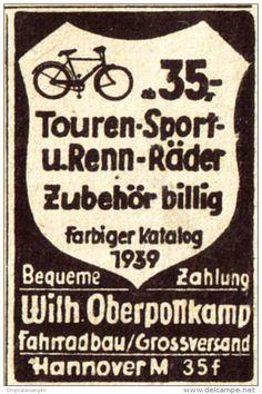 Original-Werbung / Anzeige 1938 - FAHRRÄDER OBERPOTTKAMP - HANNOVER - ca. 25 x 35 mm