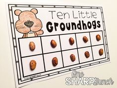 Here's an adorable and FREE Groundhog's Day activity perfect to go along with the book Ten Grouchy Groundhogs!