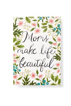 Show mom how much you care with this pretty floral-inspired Mother's Day card from Hallmark Gold Crown.