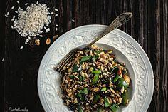 na krachym spodzie: Risotto z grzybami i papryką