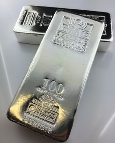Investors get more ounces for their money while minimizing the amount of room needed to store their silver. And because these advantages make the 100 oz size popular, these bars are also liquid and easy to trade. Bullion Coins, Silver Bullion, Silver Investing, Money Pictures, Coin Prices, Gold Money, Silver Bars, Online Shopping For Women, Silver Coins