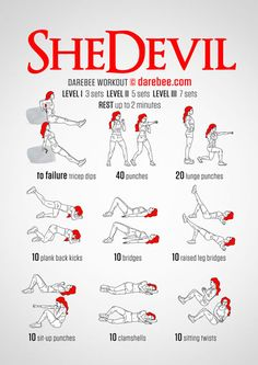 SheDevil Workout (Friday L1) - Tap the pin if you love super heroes too! Cause guess what? you will LOVE these super hero fitness shirts!