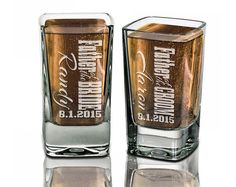 Groomsmen Gifts Wedding Shot Glasses Best Man Father by eugenie2