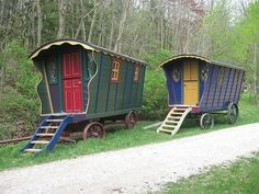 Some of the rustic lodging options available at Tunnel Mill, near Rochester, Minnesota.