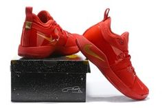 e134c65d609e Nike PG 2 Paul George October Red Gold Men s Basketball Shoes Nike Paul  George