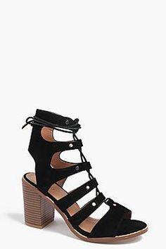 ca451e76c2 Boohoo: Tegan Lace Up Block Heel Lace Up Block Heel, Block Heels, Latest
