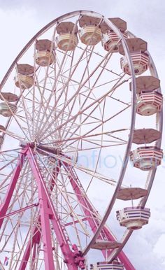 ImageFind images and videos about pink girly and ferris wheel on We Heart It - the app to get lost in what you love. Pink Love, Pretty In Pink, Hot Pink, My Love, My Favorite Color, My Favorite Things, Pink Color, Purple, I Believe In Pink
