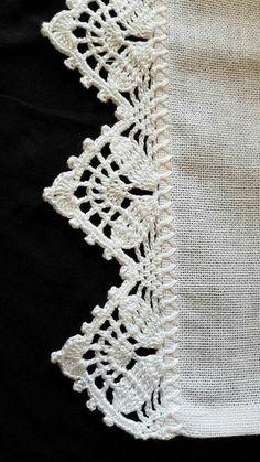 66 ideas for crochet edging lace pattern Crochet Edging Patterns, Crochet Lace Edging, Crochet Motifs, Crochet Borders, Filet Crochet, Crochet Designs, Crochet Doilies, Easy Crochet, Crochet Stitches