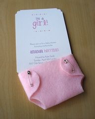 love the felt diaper idea. Could be done super cutesy.