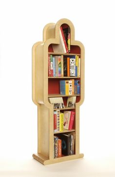 Bookcase coffin. Ok this is a little creepy but it's made of books so we had to post.