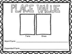 """Place Value Activity Mat - perfect for all ages and every day use in the classroom. Mats included from 2 digits to 9 digits. Give students a number and have them fill in the standard form, word form, and expanded form of the number. Then ask questions like, """"What is 100 more? What is 1,000 less?"""""""