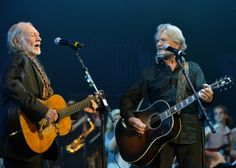 Willie Nelson & Kris Kristofferson perform during 2013 Berklee College Of Music Commencement Concert at Berklee College of Music on May 10 in Boston. (Photo by Paul Marotta/Getty Images)