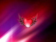 a heart wings