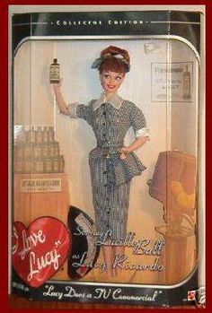 I Love Lucy Barbie Doll Lucille Ball Does A Commercial T