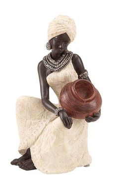 Decmode Eclectic 10 X 6 Inch Kneeling African Woman Sculpture, Silver African American Art, African Women, African Art, African Fashion, African Dolls, African Figurines, African Home Decor, African Sculptures, Creation Art
