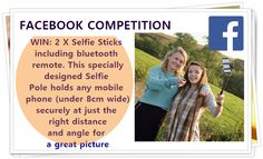 Selfie sticks are the essential must have gadget this year... Win one here! Enter this competition here http://www.moneymagpie.com/article/win-amazing-prizes-in-8-days-of-competitions