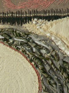 "Carol Walker, Plow (detail 2), 7.5x7.5"", 3-2011 #fiber art #embroidery"