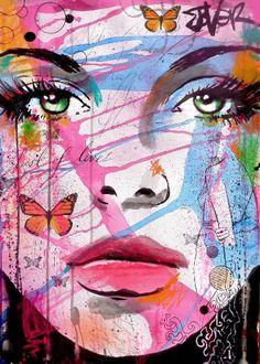 Lust lifeloui jover loui jover in 2019 художники, рисунки, краска. Kunst Online, Online Art, Abstract Portrait, Collage Portrait, Maquillage Halloween, Life Drawing, Saatchi Art, Wall Art Prints, Cool Art